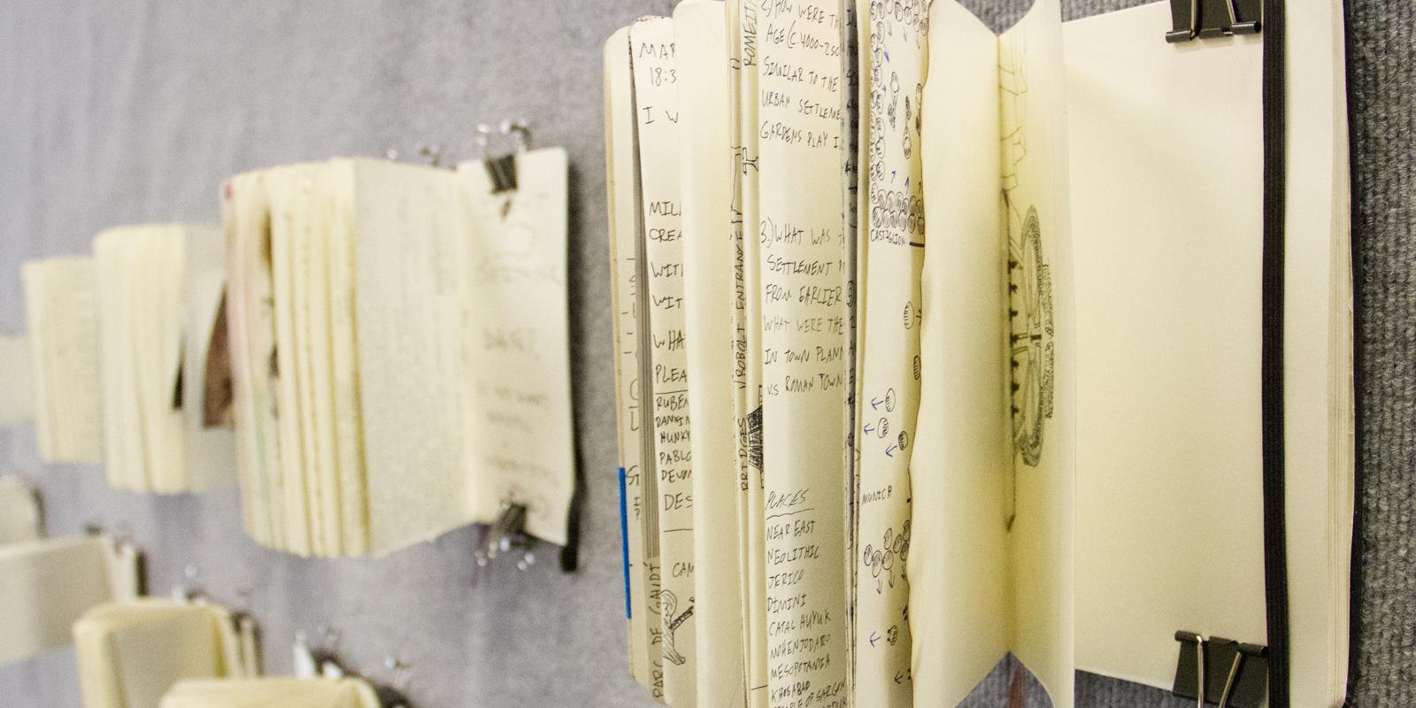 Sketchbooks in IndiVisuals Exhibition (Mark Maryanovich Photography)