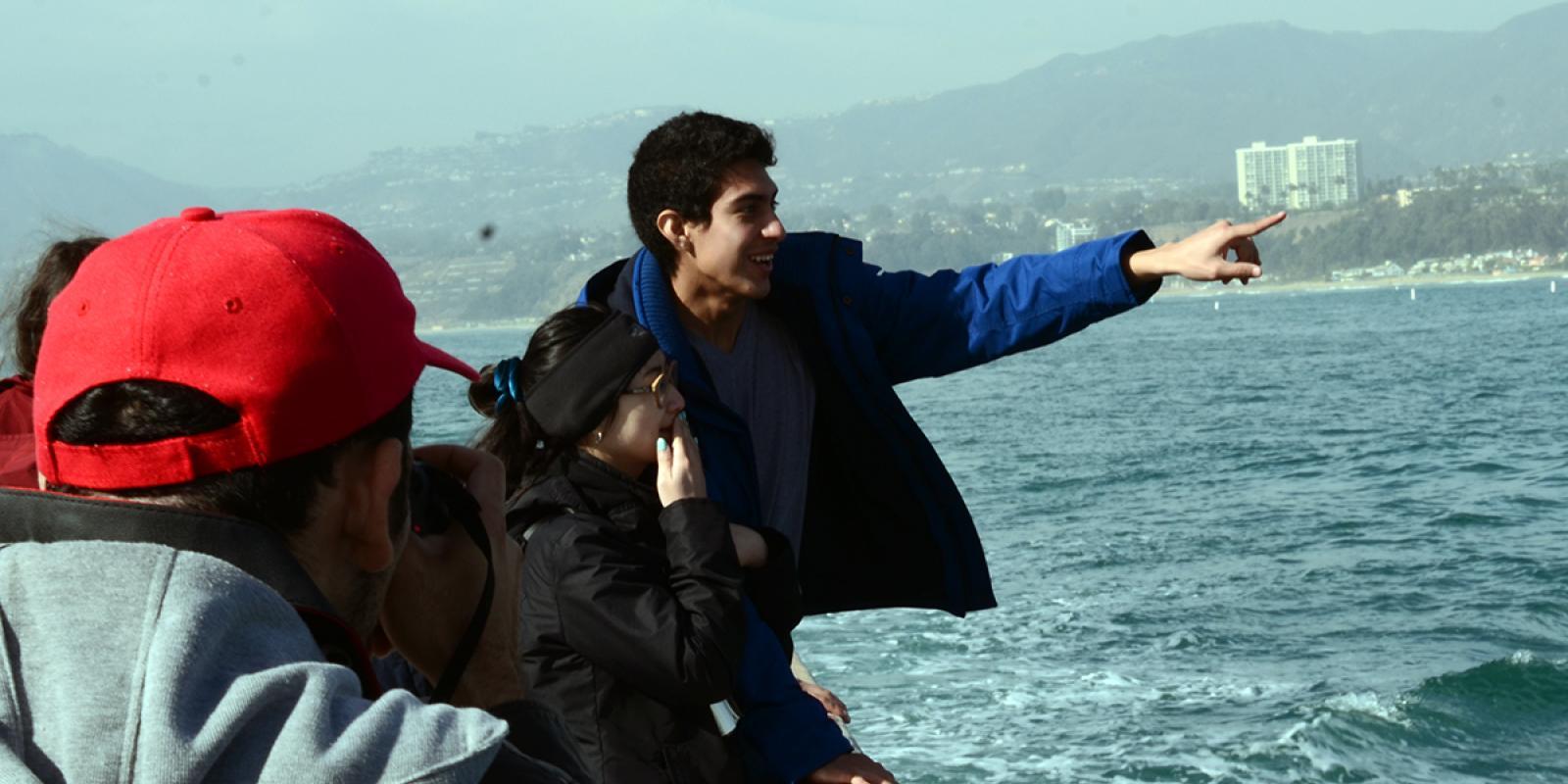 LA 302L undergraduate students on field trip as part of the Land Art Generator Initiative in Santa Monica