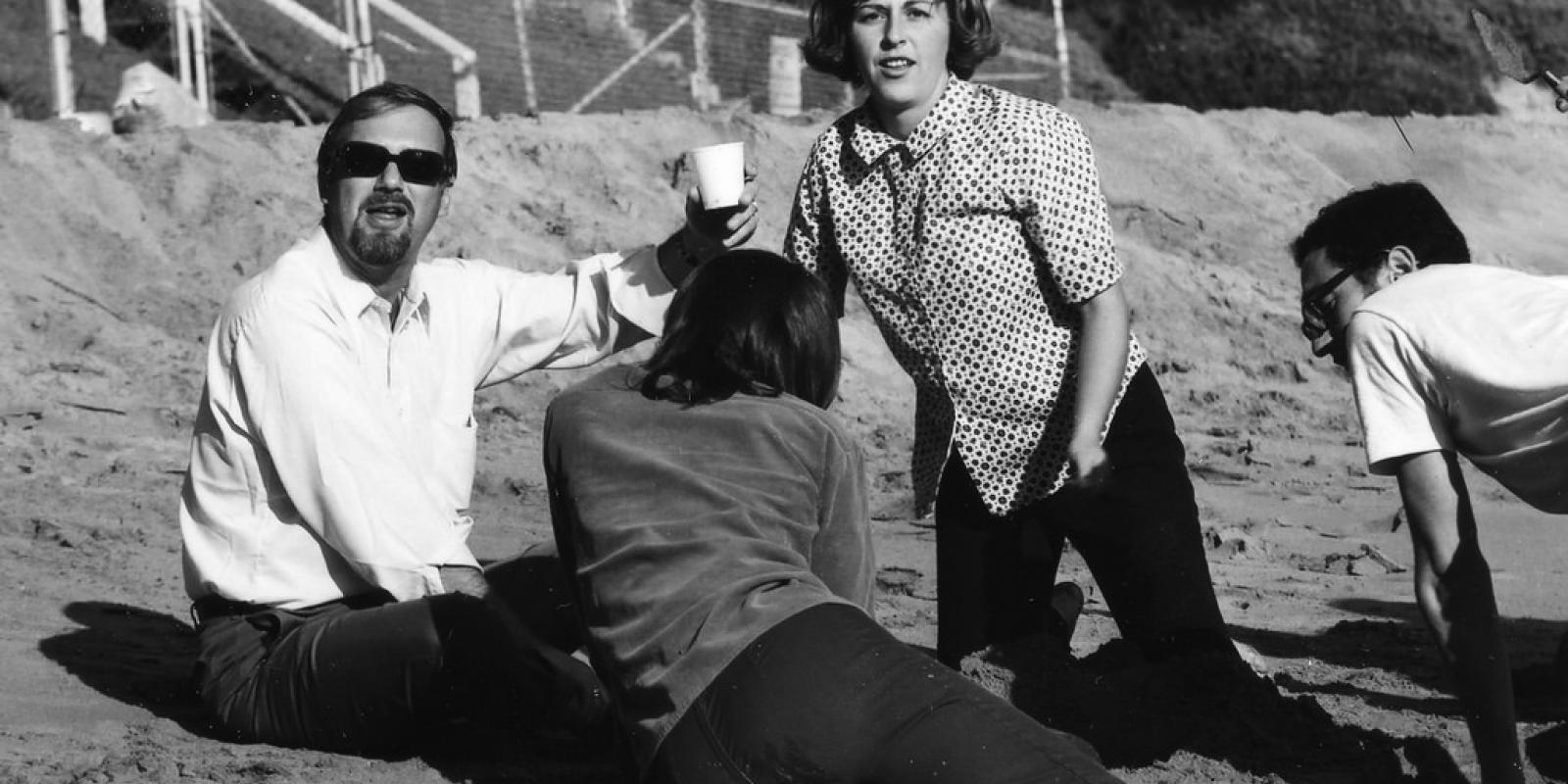 CPPLA in the late 1960 on a studio field trip to the beach for some sand casting