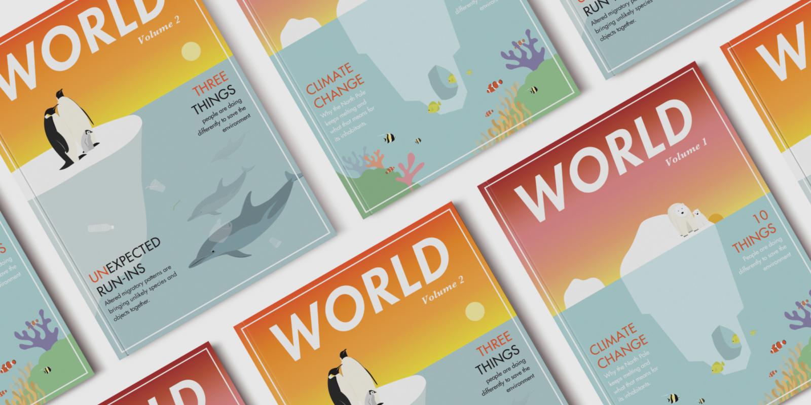 """""""World Magazine Cover Series"""", Artist: Daniella Fallone, """"Poly-Kroma 2020"""" Exhibition"""
