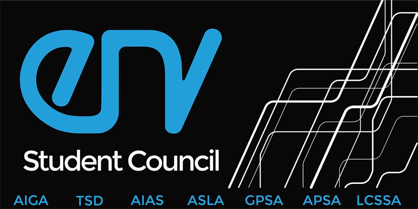 Environmental Design Student Council. Design by Sergio Carrillo ('19, BSLA)