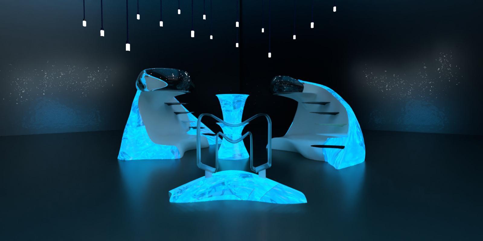 """Manta Board/Exhibition"", Artist: Steven Anderson, ""Poly-Kroma 2020"" Exhibition"