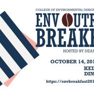Learn about ENV's top-ranked undergraduate programs at the the 2019 ENV Dean's Outreach Breakfast on Oct. 14 at Kellogg West