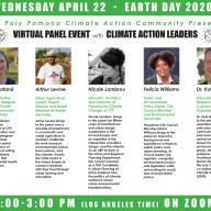 CPP Climate Action Community's virtual Earth Day panel features CPP faculty and Southern California experts
