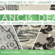 """Francis Dean: The Art of Modern Landscape Architecture"""" at the Huntley Gallery"""