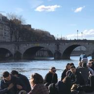 Along the Seine: March 15, 2020 (Image courtesy of Rennie Tang)