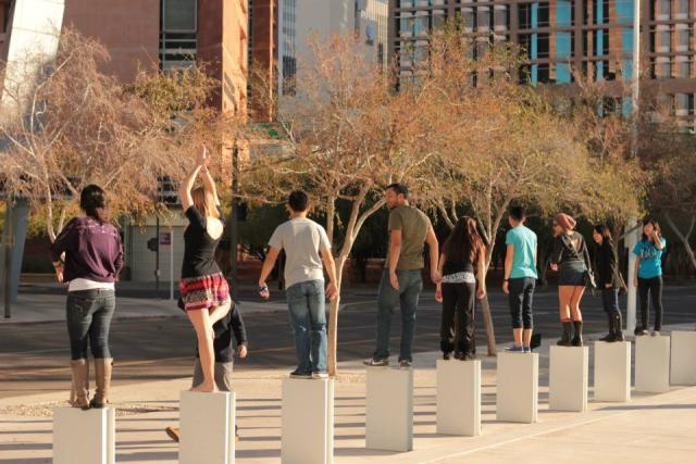 Architecture students pose at The Design School at Arizona State University, 2011 AIAS Forum Conference