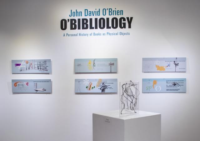 John David O'Brien Exhibition Title Wall