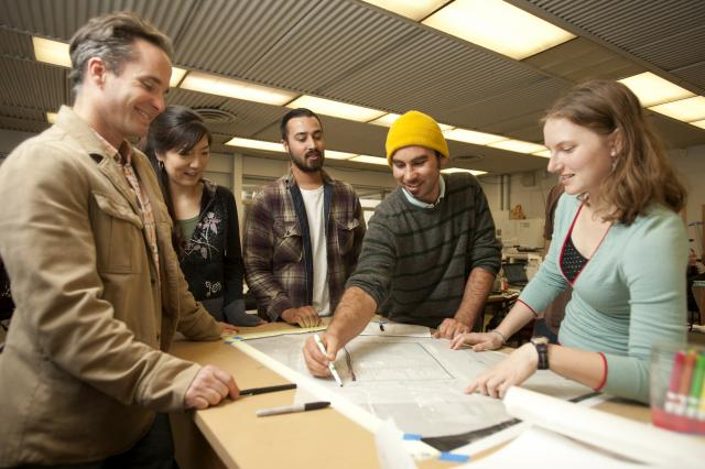 MLA students discuss their studio project