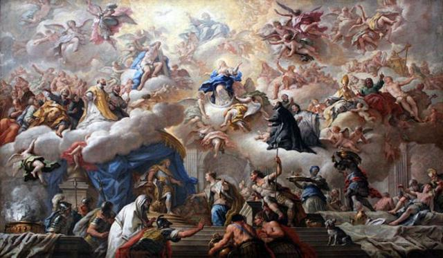"From the Baroque art movement: ""The Triumph of the Immaculate"" by Paolo de Matteis (1710)"