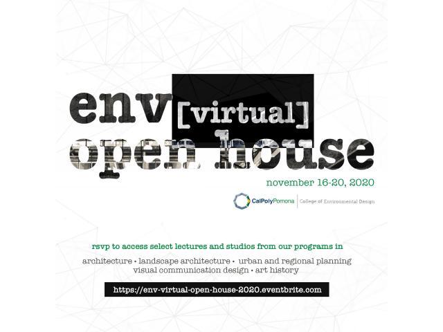 ENV Virtual Open House (November 16-20, 2020)