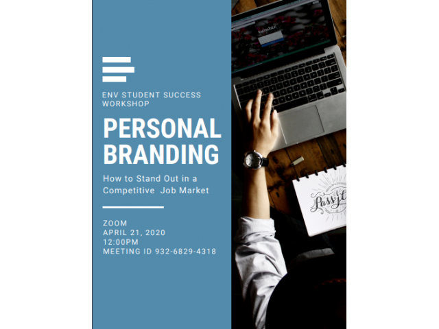 Learn about upping your personal branding game at the April 21 Student Success virtual workshop
