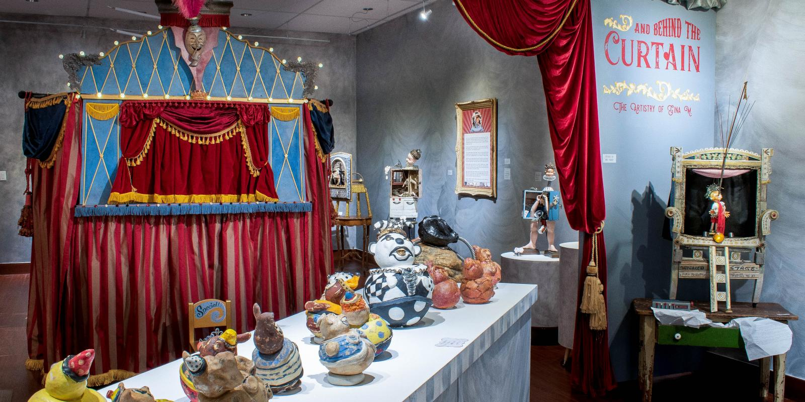 Current 2020 Exhibition - Through the Toy Shop and Behind the Curtain: The Artistry of Gina M.