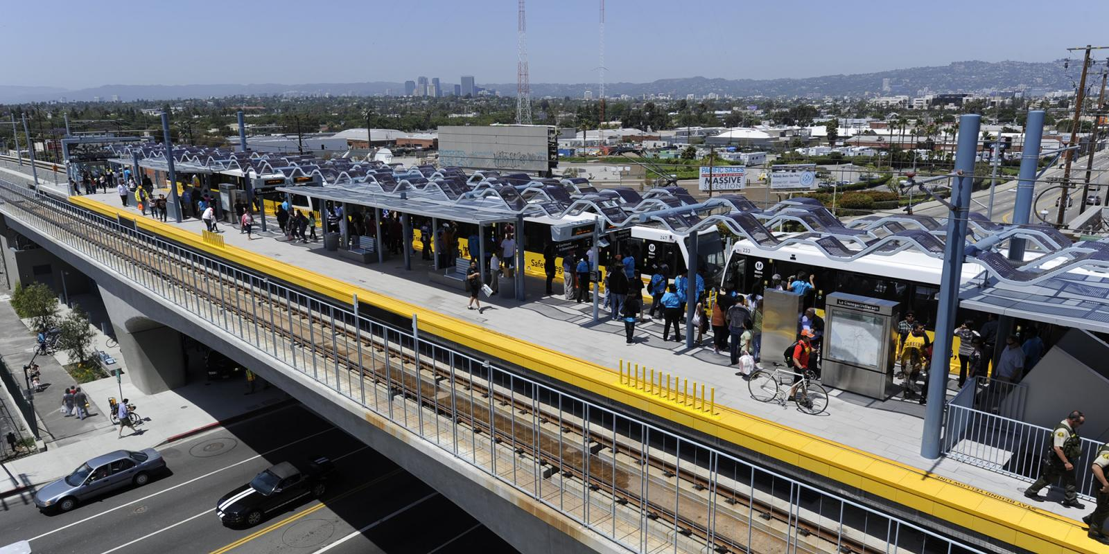 Expo Line, a light-rail line running between downtown Los Angeles and Santa Monica