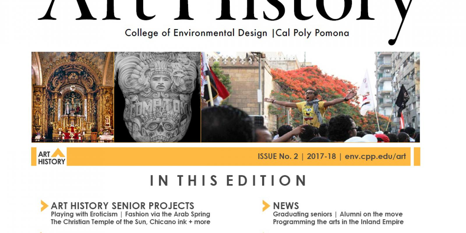 Cover image of 2017-18 CPP Art History newsletter