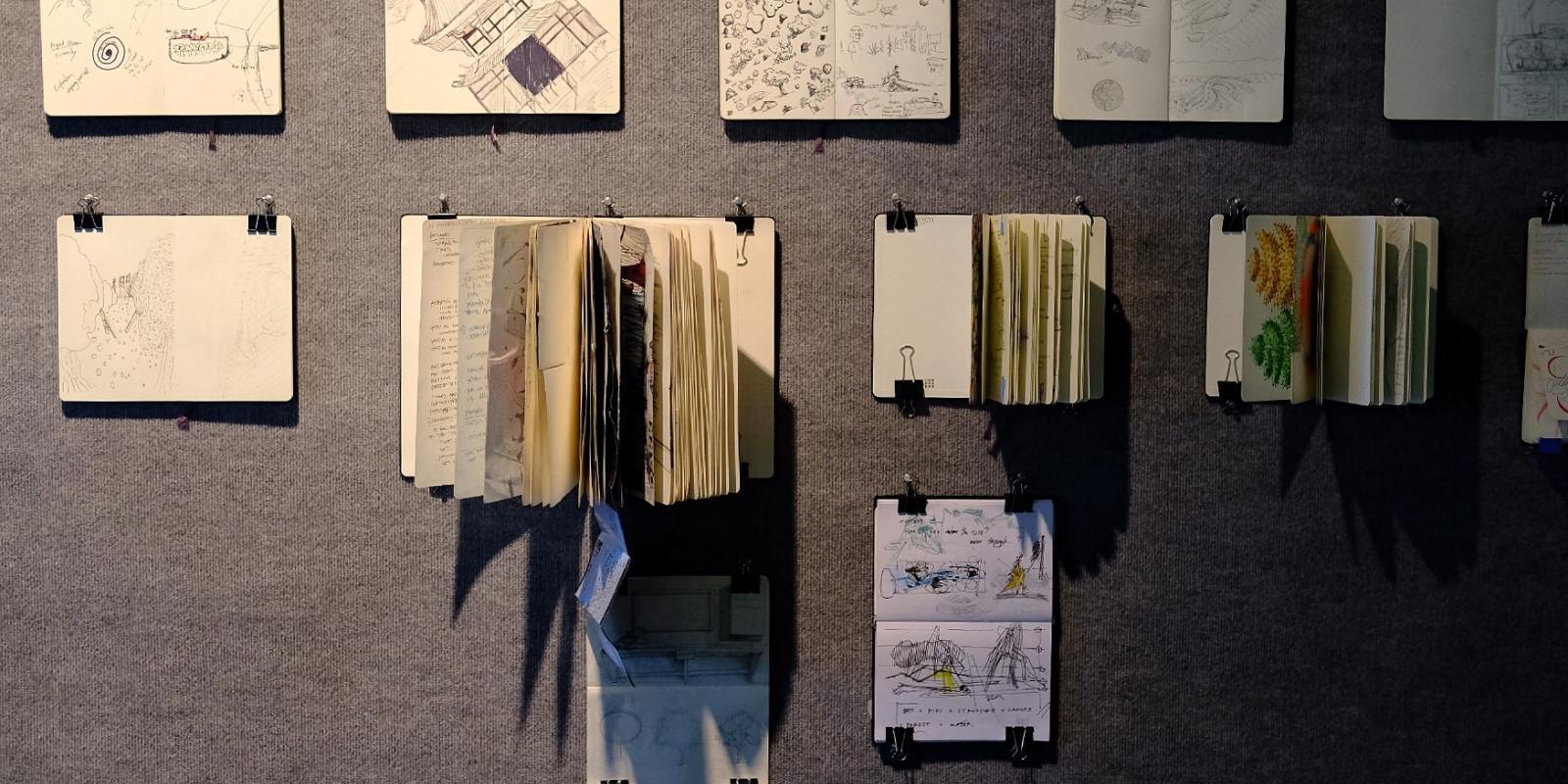 IndiVisuals exhibition of landscape architecture student sketchbooks