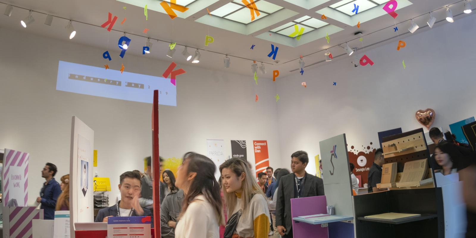 Senior Portfolio area on Industry Day, Exhibition: PolyKroma 2019, Apr.27, 2019 to May 19, 2019, Co-curated by Michele Cairella Fillmore & Sooyun Im, W. Keith & Janet Kellogg Art Gallery, Cal Poly Pomona.