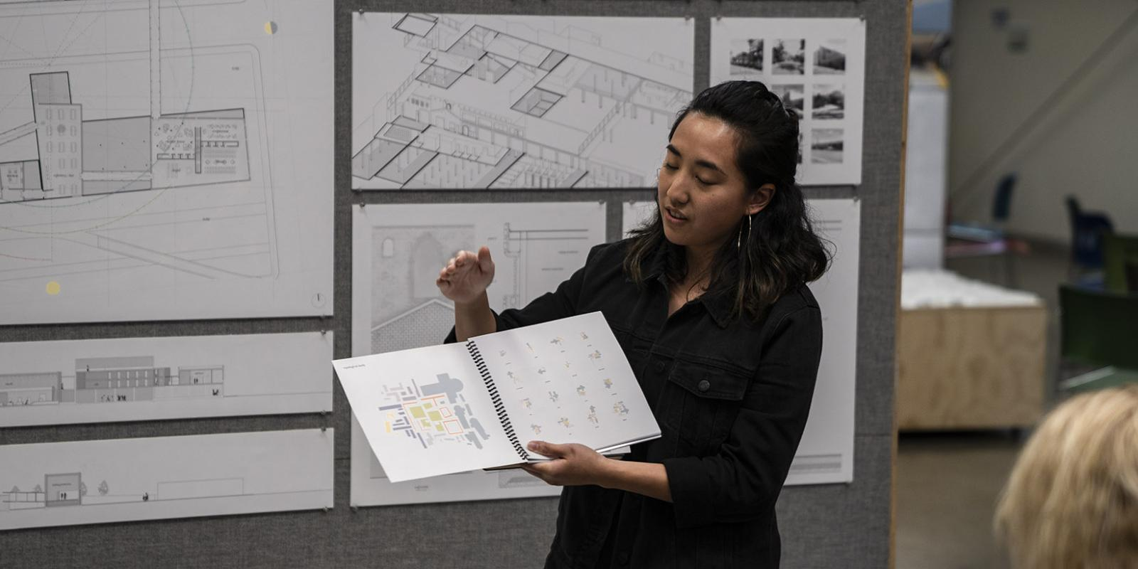 Mariana Cecilia Uy final project presentation to professionals. (George Proctor)