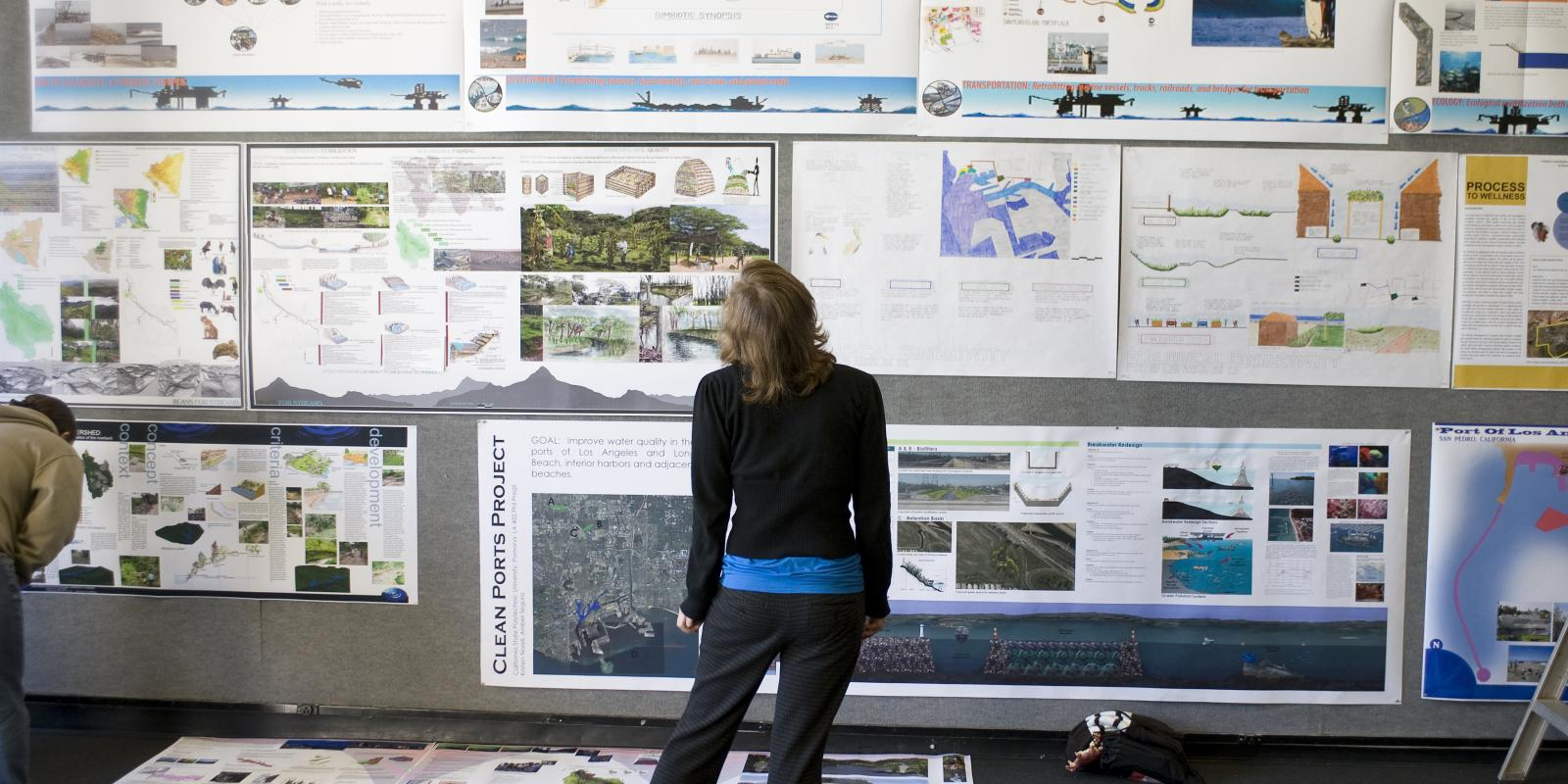 Landscape architecture studio design exchange at a department Open House
