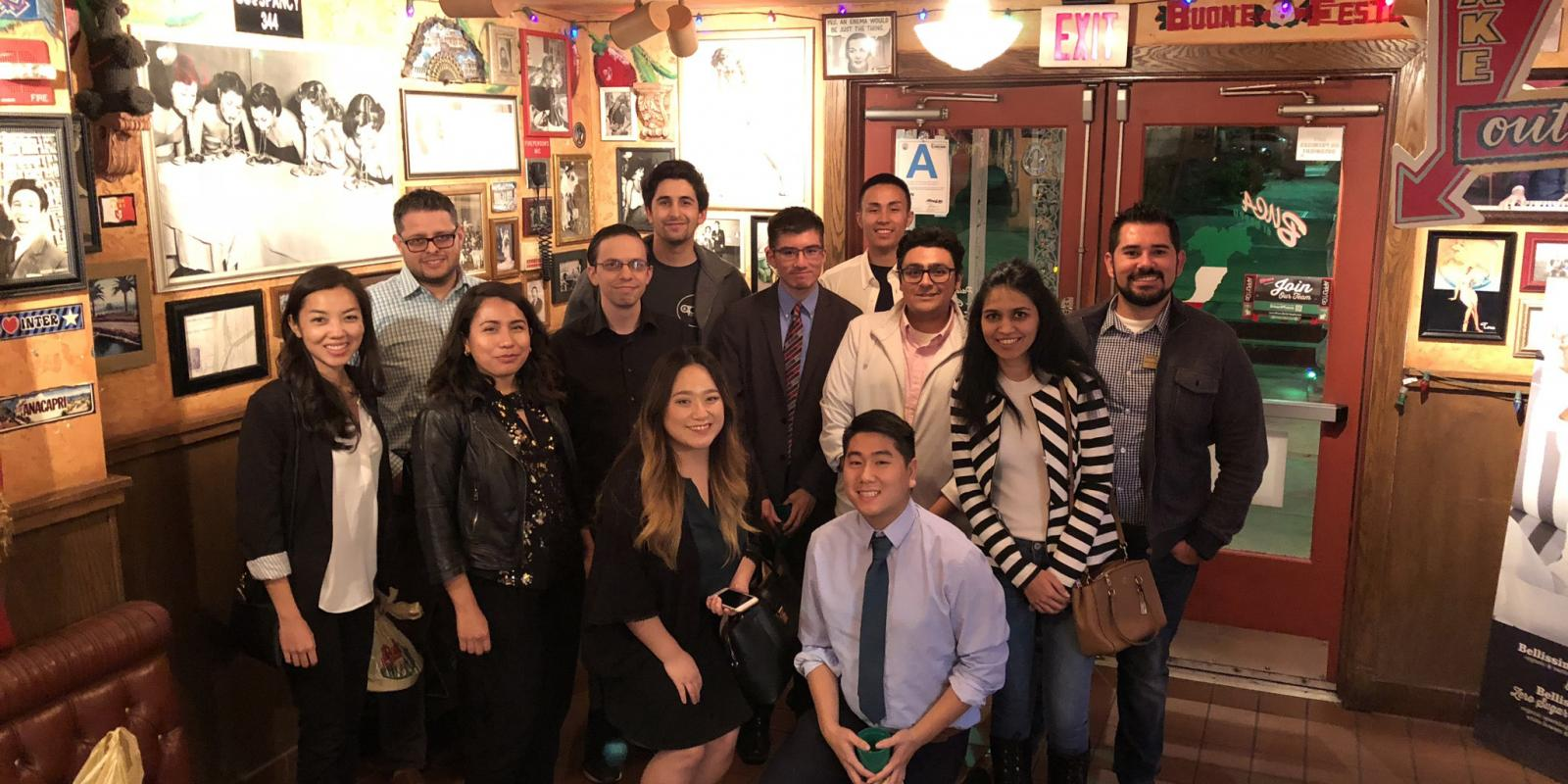 Fall 2017 Dinner with a Planner at Bucca di Beppo in Claremont, CA