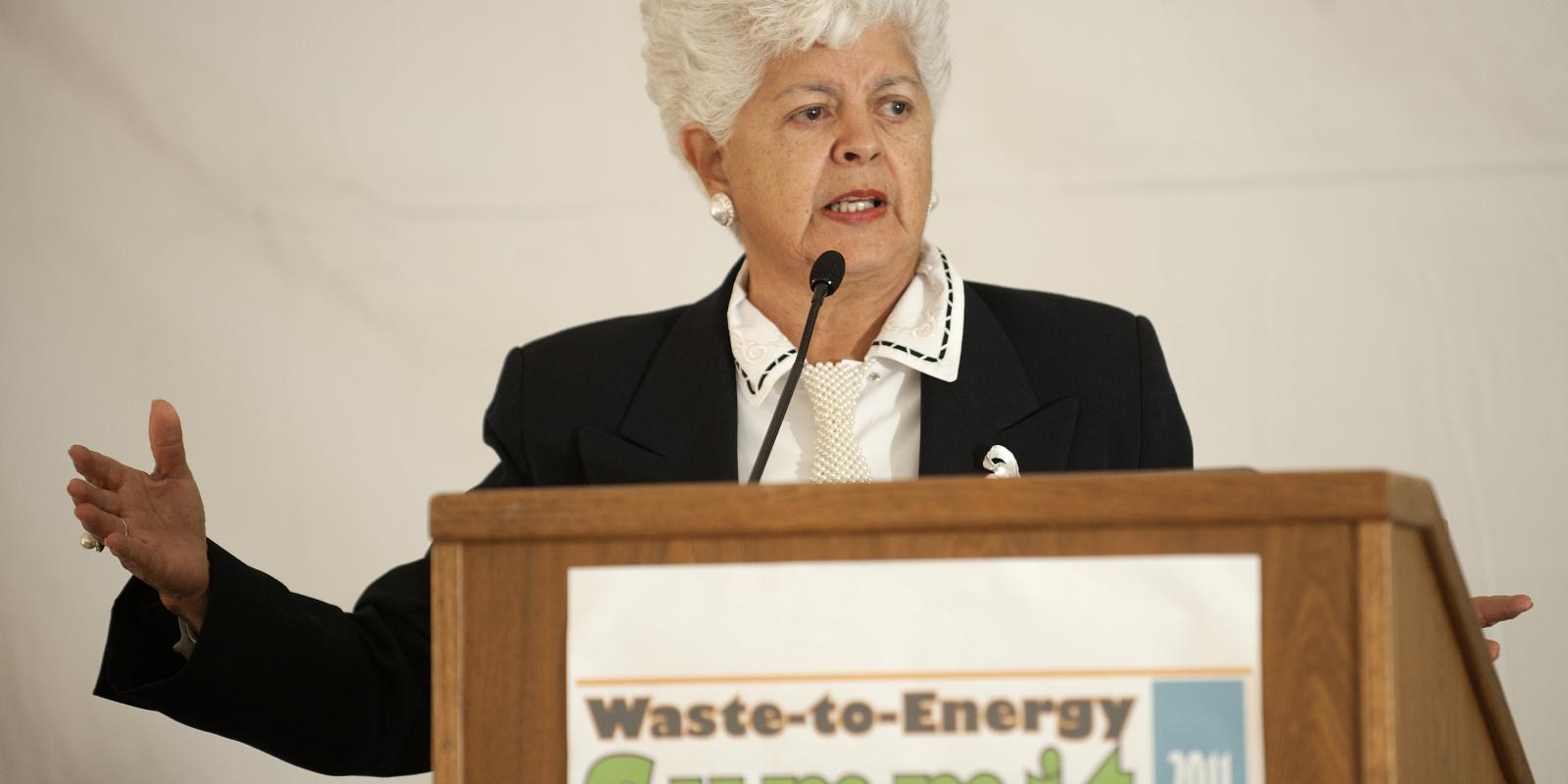 U.S. Rep. Grace Napolitano at the Waste-to-Energy Summit, October 2011