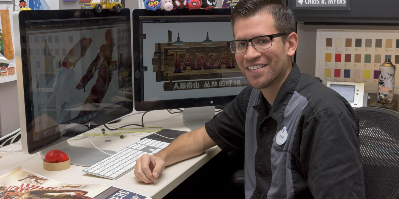 Chris Myers secured full-time employment with Walt Disney Imagineering after his internship (Image courtesy of Walt Disney Imagineering)