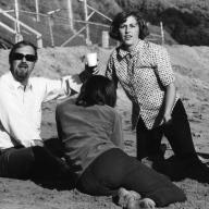 Jere French at the beach with CPPLA students, circa 1960something