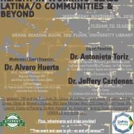 Assistant Professor Alvaro Huerta (URP) will moderate 'Demystifying Mental Health in Working-Class Latina/o Communities & Beyond'