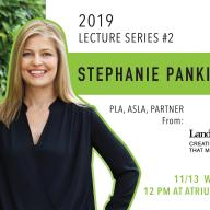 Stephanie Pankiewicz, PLA, ASLA, is a partner at LandDesign. She will give a public lecture on Nov. 13
