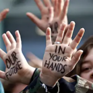 'Our future is in your hands' (Shutterstock)