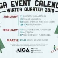 CPP AIGA Winter 2018 Events