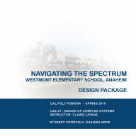 Design Package: Navigating the Spectrum.  Westmont Elementary School, Anaheim.