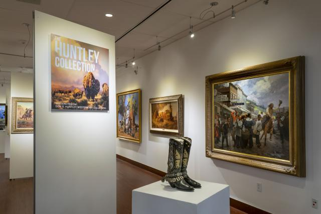 """Installation View, Title Wall Exhibition Entrance, """"Art of the West: New Acquisitions"""" Exhibition, Jun 24, 2019 to Sep26, 2019"""