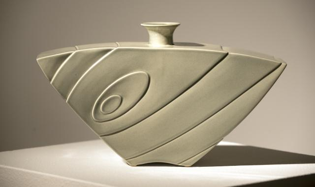 Abora Vase-Jade, 2014 Stoneware by Lee Middleman for Ink & Clay 40
