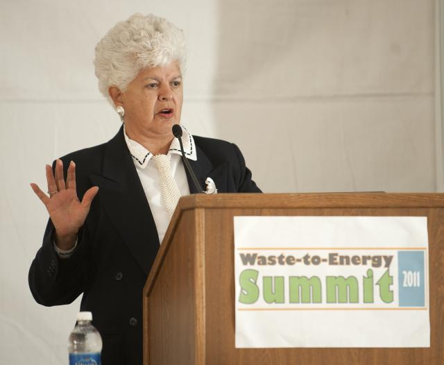 Congresswoman Grace Napolitano at the Waste-to-Energy Summit at the Lyle Center, October 2011
