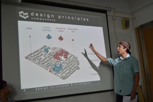 Student design project studio presentation.