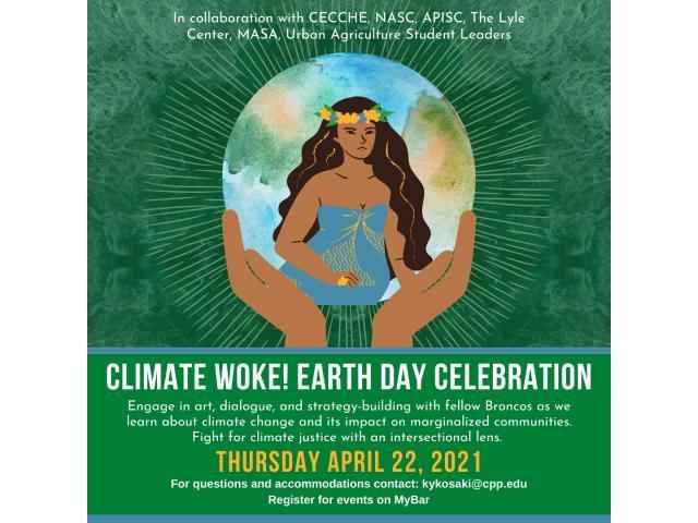 Climate Woke! Earth Day Celebration's program focuses on climate change and its impact on marginalized communities