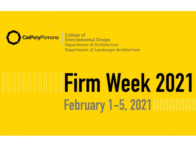 Firm Week 2021 will connect companies with staffing needs with talented architecture and landscape architecture students