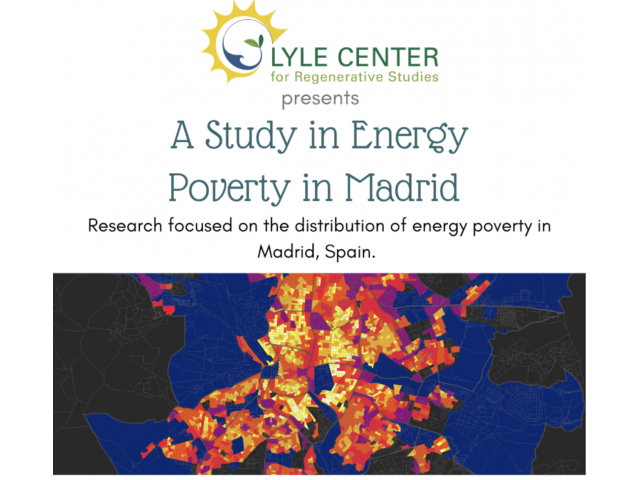 Architects Carmen Alonso and Fernando Martin-Consuegra discuss their findings on the lack of access to modern energy services in the Spanish capital