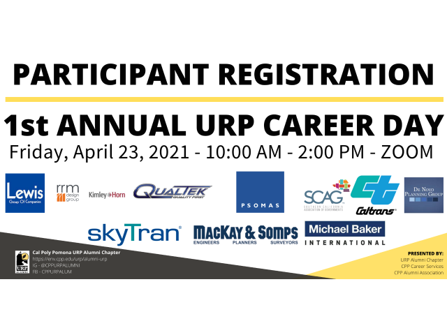 URP majors will meet with employers to discuss careers in planning on Friday, April 23