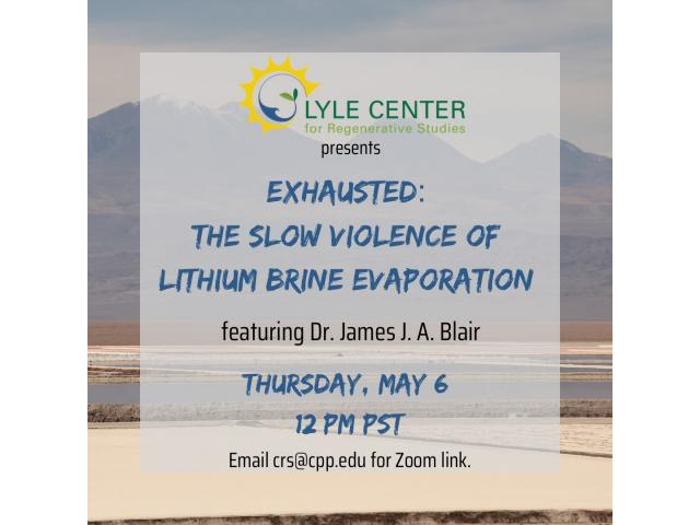 """Exhausted: The Slow Violence of Lithium Evaporation"" looks at the ecological cost of brine evaporation in lithium mining"