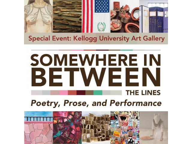 Somewhere in Between, featured at the Kellogg University Art Gallery through March 17, 2019