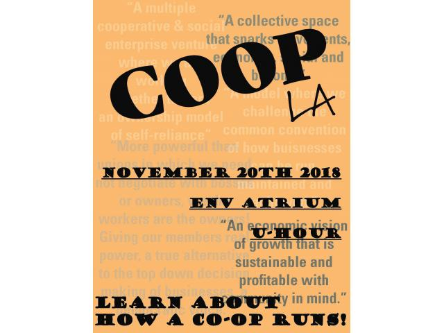 Learn how a co-op works at this APSA-sponsored event on Nov. 20, 2018