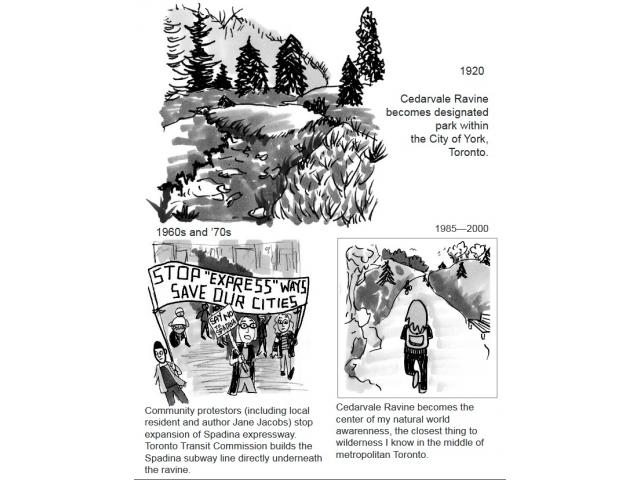 """Cover page of """"At Home with the Infinitely Unpredictable: Cedarvale Ravine"""" by MLA student Adrian Tenney"""